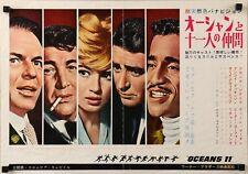 OCEAN'S 11 Japanese B3 movie poster FRANK SINATRA DEAN MARTIN RAT PACK DICKINSON