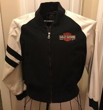 Vintage Harley Davidson Motorcycle Varsity Bomber Jacket V-Twin Power SZ L USA