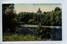 (Gw778-449) Elkhart River & Hotel Bucklin, ELKHART, Indiana, USA 1910 G-VG