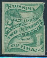 #RS277 2¢ GREEN J.H. ZELLIN & Co. WITH FAULTY UPPER RIGHT SIDE CV $200 BT4232
