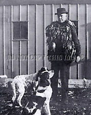 Antique Hunting Repro 8 x 10 Photograph Hunter Lots Of Quail > 2 English Setters