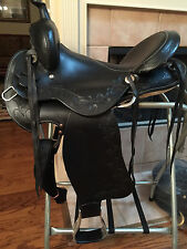 "TN Saddlery 16"" Gaited Western ""Sharp tail"" Saddle Black"