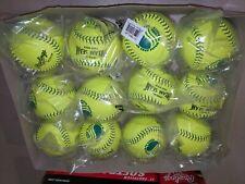 "(12) Rawlings 11"" USSSA Official Dream Seam Fastpitch Leather Softballs C11BYLUC"