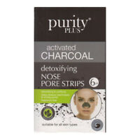 Pack Of 6 Activated Charcoal Detoxifying Nose Pore Blackhead Cleaning Strips