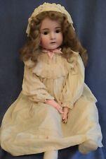 """Antique Large 32"""" Jd Kestner Doll 154 - Needs Some Tlc"""
