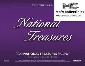 2020 National Treasures NT Racing 4 Box Full Case Group Break Kaz Grala