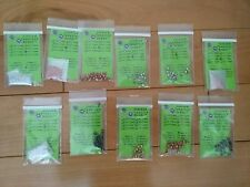 """JOB-LOT of 11 x 20-pks of SLOTTED TUNGSTEN BEADS 5/32"""" FLY TYING VARIOUS COLORS!"""