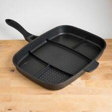 Lazy Man Pan Full Breakfast Non-Stick 5-Section Frying Pan