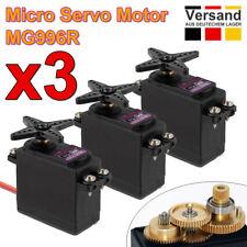3 HQ 12kg Servo Motor MG 996R Metallgetriebe mit Zubehör RC MG996R Fernbedienung