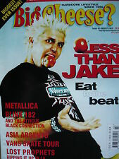 BIG CHEESE MAGAZINE  AUG 2003 - LESS THAN JAKE - METALLICA - BLINK 182
