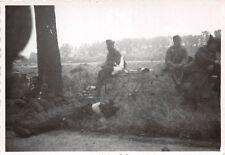 Franz. Gefangene Strasse Capelle au Bois Belgien