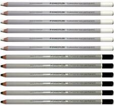 Staedtler Lumocolor Non-Permanent Omnichrom Pencil Black and White Set 12PC New