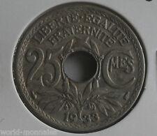 rare - fautée  - erreur - défaut - 25 centimes lindauer 1933 : TTB : n°6