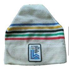 Vintage 1980 Winter Olympics Games Lake Placid Ski Hat Beanie Cap