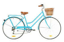 REID LADIES LITE 7SPD LIGHT BLUE 42cm 700c BEACH CRUISER HYBRID WOMENS BIKE