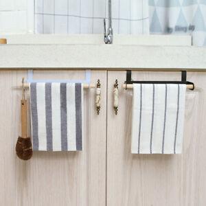 1x Over Door Towel Holder Rack Bathroom Cupboard Hanger Towel Rail Kitchen Hook