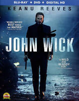 John Wick [Blu-ray + DVD + Digital HD] 2015 Brand New Sealed, Keanu Reeves 2014