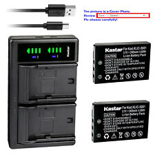 Kastar Battery LTD2 Charger for Kodak KLIC-5001 & Kodak 1054062 1064062 Camera