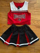 Team Apparel Reebok Kids Tampa Bay Buccaneers Cheer Outfit Size 5-6 Medium