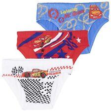 Disney Pixar Cars Underwear Boys Set 3-Pack Briefs Pants Boxers 2-8 Years