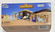 Bible Toys Nativity Set New In Plastic Figures Damaged Box Complete Set Mint!!