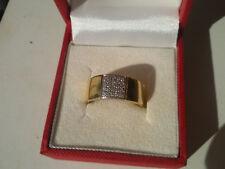 18k/750 gold ring - brilliant cut diamonds 0,12ct - Size: 56
