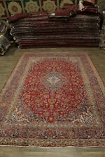 Great Shape Extra Large Red Kashan Persian Wool Rug Oriental Area Carpet 10X14