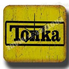TONKA Toys REPRODUCTION VINTAGE RETRO   METAL TIN SIGN WALL CLOCK