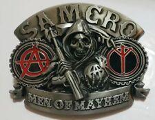 SONS OF ANARCHY SAMCRO MEN OF MAYHEM SKULL BELT BUCKLE US Seller