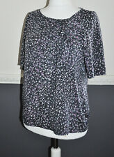 Ghost London Ladies Top Blouse Grey Spotted UK 18 100% Viscose