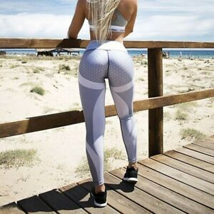 Women Leggings Honeycomb Yoga Pants Women Push Up Sport Leggings Professional