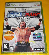 WWE SMACKDOWN VS RAW 2007 XBOX 360 Versione Italiana 1ª Ediz ○○○ NUOVO SIGILLATO