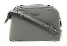 Kate Spade Peggy Dome Patterson Drive Grey Leather Crossbody Handbag Purse