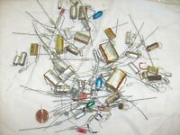Big Vintage Capacitor 90 Lot - EAO + Mial + Rifa and others - radio repair parts