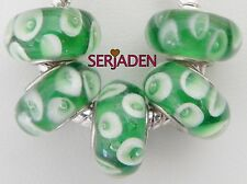 5 Green Apple Slice Single Core Bead Fit European Jewelry 8 * 13 & 5mm Hole B120