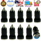 10X Black Dual USB Port Car Charger Adapter 2.1A For iPhone LG HTC Samsung Phone