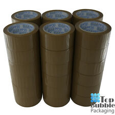 Premium Brown Packaging Tape 48mm x 75m - 72 Rolls Rubber SYDNEY FREE SHIPPING