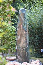 Wasserspiel SET Quellstein Monolith 180cm Marmor Artik green Gartenbrunnen