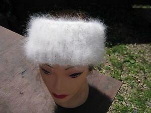 Headband Ski Ear warmer handknitted angora rabbit yarn  Russian craft