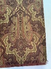 Crypton Lauden Way Bark Burgundy Red Paisley Material Upholstery Fabric 5.5 Yard