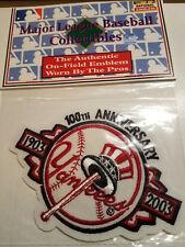 YANKEES 100TH YEAR ANNIVERSARY OFFICIAL MLB BASEBALL JERSEY PATCH