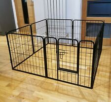 8 Panel Metal Pet Dog Puppy Rabbit Guinea Pig Run Pen Playpen Fence Enclosure