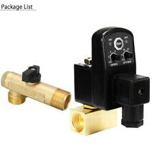 """Timed Electric Auto Drain Valve Compressor Gas Tank Automatic 2 Way AC 110V 1/2"""""""