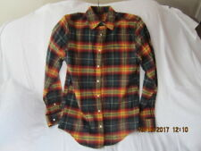 Preowned Men's Size Small Medium L.L. Bean Signature Cotton Silk Blend Shirt