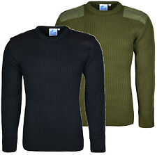 Mens Army Security Jumper Pullover Crew Neck Long Sleeves Knitted Top