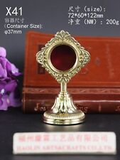"""Brass ornate Reliquary for church or home Relic 4.80"""" High X41"""