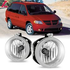 For Dodge Grand Caravan 05-08 Clear Lens Pair Bumper Fog Light OE Replacement