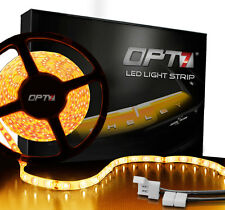 OPT7 LED Light Strip 300 SMD 16ft Interior Waterproof Flexible Bright 12v AMBER
