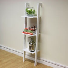 3 Tier White Ladder Wall Shelf Home Storage/Display Unit Bookcase Stand Bathroom