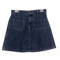 LUCKY BRAND Medium Wash High Waisted Rise Mini Skirt Denim Jean 0 W25 25 in EUC